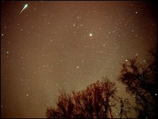 A Leonid meteor over Alabama