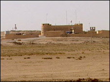 A fort on the border between Iraq and Syria
