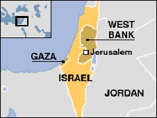 Israel, occupied territories map