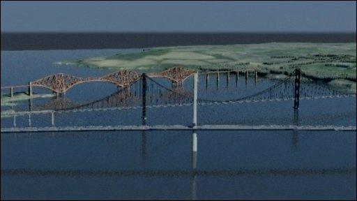 Artist's impression of new bridge
