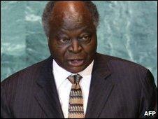 Mwai Kibaki, file image