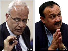 Saeb Erekat (2009) and Marwan Barghouti (2002)