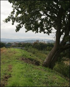 The site of the Battle of Evesham