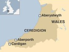 Ceredigion map