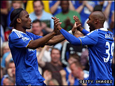 Didier Drogba (left) and Nicolas Anelka (right)