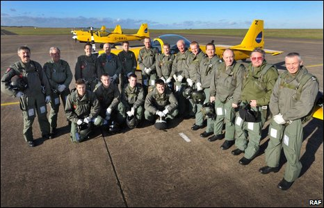 The Standards Department and 703 Naval Air Squadron took part in the fly past