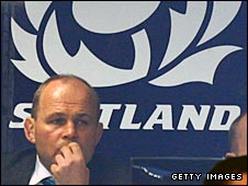 Andy Robinson looks on during Scotland's win over Fiji