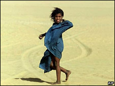A Tuareg girl in the Sahara Desert. File photo