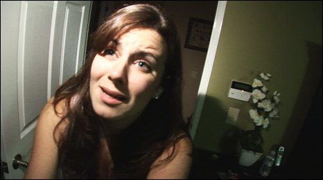 Katie Featherston in a scene from the film
