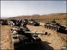 Soviet tanks in Afghanistan