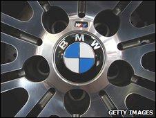 A BMW wheel