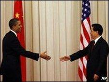 President Obama meets Presiden Hu Jintao