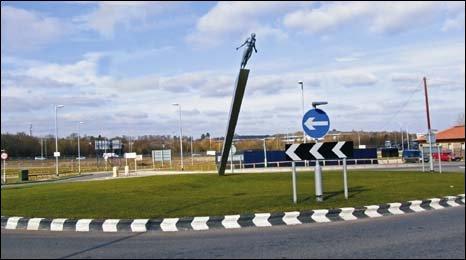 Bracknell's Jennett's Park Roundabout
