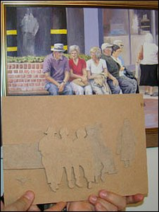 Original painting with  the relief