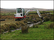 Work at Merrivale Leat
