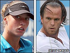 Belgian duo Yanina Wickmayer and Xavier Malisse