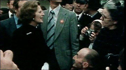 Margaret Thatcher opening Centre MK