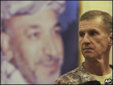 Gen. Stanley McChrystal is the top U.S. and NATO commander for Afghanistan