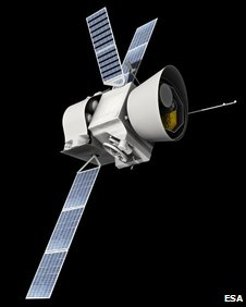 Artist's impression of BepiColombo (Esa)