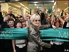 Model Twiggy unveils a revamped M&S store on Oxford Street