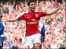 Arsenal striker Eduardo