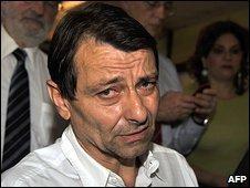 Cesare Battisti at Papuda penitentiary in Brasilia, 17 November 2009