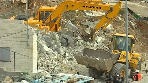 Demolishing a property in East Jerusalem