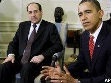 Nouri al-Maliki and Barack Obama