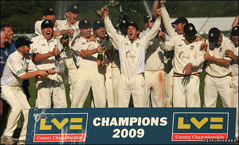 Durham celebrate their 2009 title win