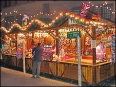 German market stalls