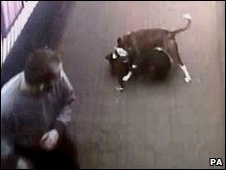 CCTV image of Neela being attacked
