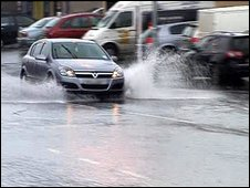 Parts of County Fermanagh have been affected by the heavy rain