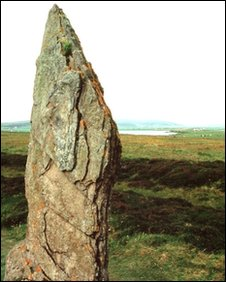 Ring of Brodgar standing stone