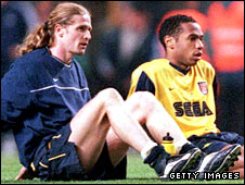 Emmanuel Petit and Thierry Henry