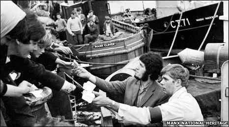 The Caroline DJ's meet their fans in September 1967