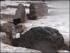 Henge stones at Armadale burial site