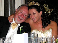 Ron Illingworth and his daughter Daniela Hearn at her wedding