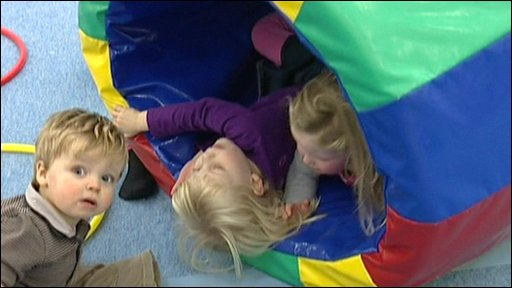 Children playing at nursery