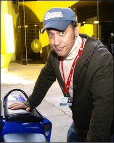 Aasif Mandvi at the UK premiere of Today's Special, in London 16 October 2009