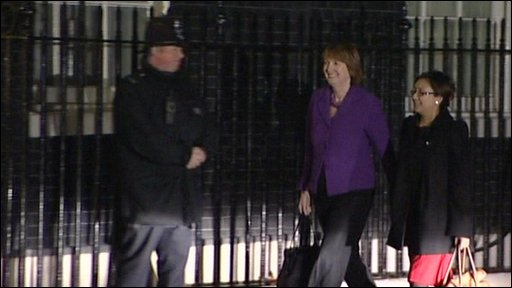 Harriet Harman arrives at Downing Street