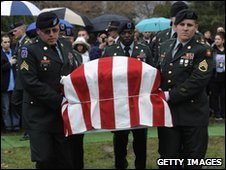 Military funeral of one of the victims of the Fort Hood shooting.