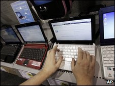 Netbooks on sale in California (file image)