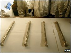 Unused fuel rods in storage at North Korea's Yongbyon nuclear plant - 16 January 2009