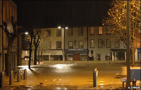 Cockermouth Market Place, taken by Ashley Tiffen