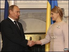 Vladimir Putin and Yulia Tymoshenko in Yalta, 19 Nov