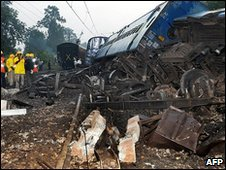 File picture Train derailed after Maoist rebel attack