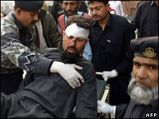Victim of a suicide attack in Pakistan