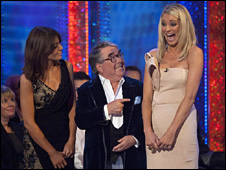 Claudia Winkleman, Ronnie Corbett and Tess Daly