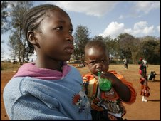 Children listening to World Service roadshow