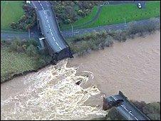 Collapsed A597 Northside Bridge